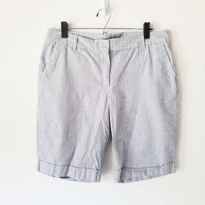 Ann Taylor Signature Striped Metallic Shorts 12
